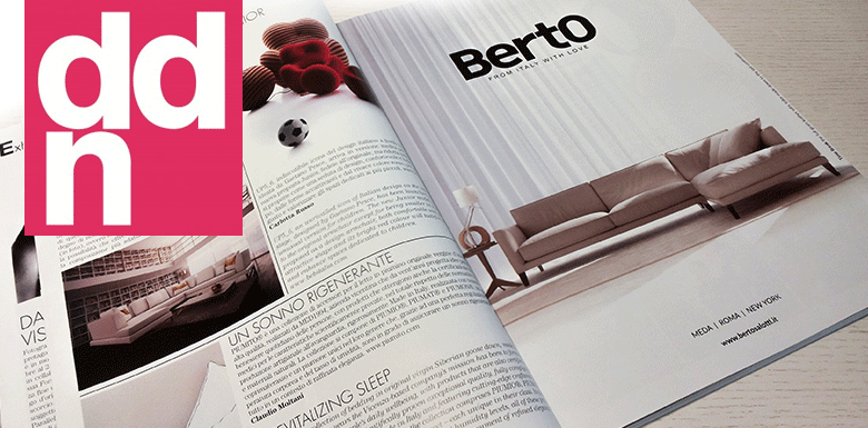 Time Break leather sofa in the DDN magazine