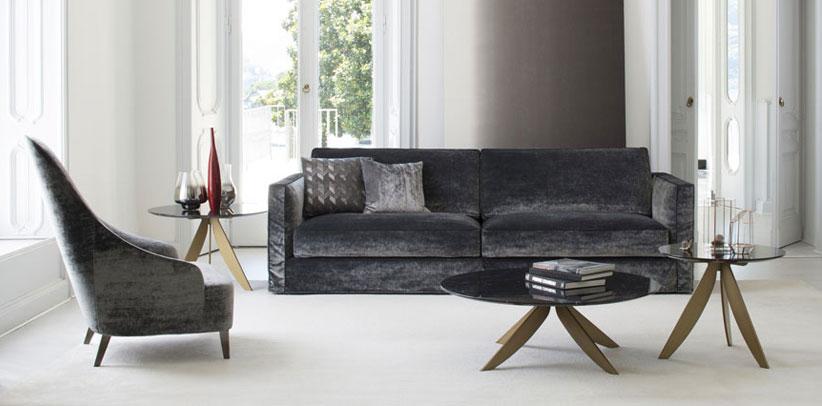 Danton velvet sofa