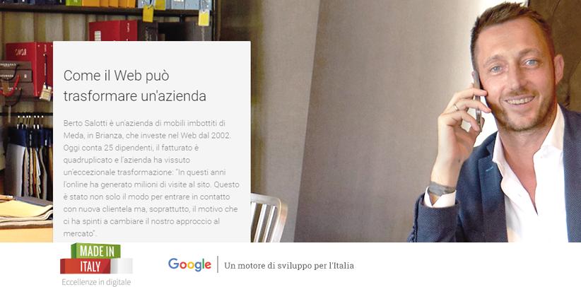 BertO in Eccellenze in digitale with Google