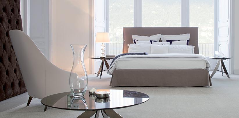 Linen design bed Sorbonne.
