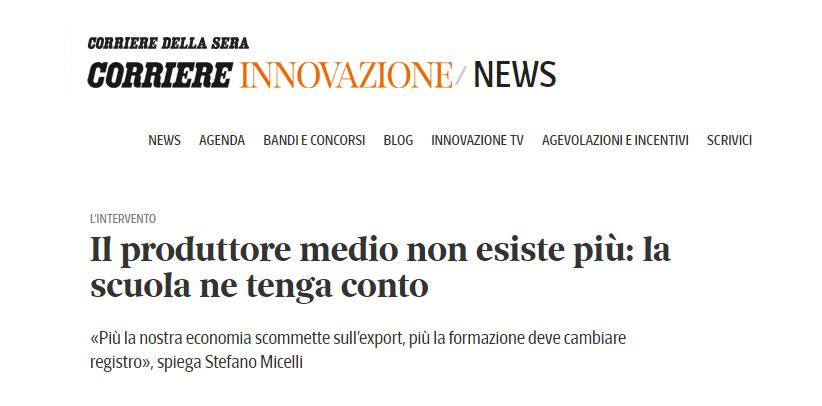 BertO on magazine Corriere Innovazione