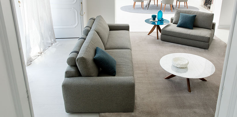 Joey sectional sofa with removable and versatile chaise longue