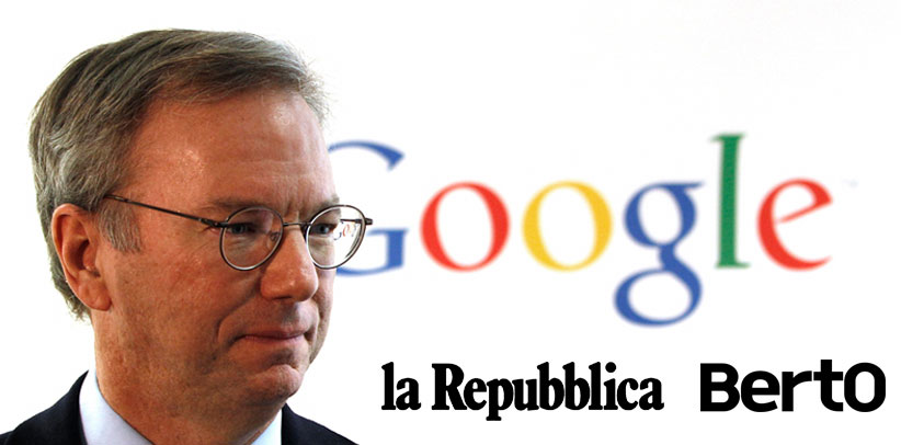 Eric Schmidt and Berto at Repubblica