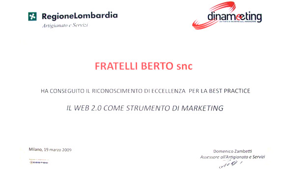 Dinameeting: BertO obtain recognition