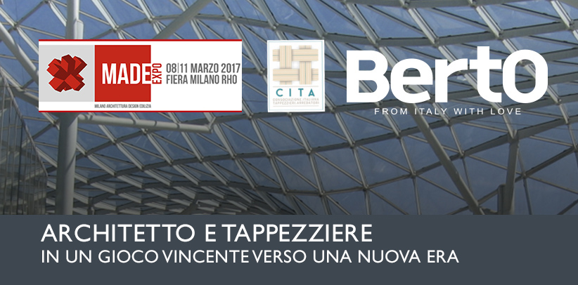 Architect and Upholsterer: Filippo Berto takes part in a meeting in Made In Expo