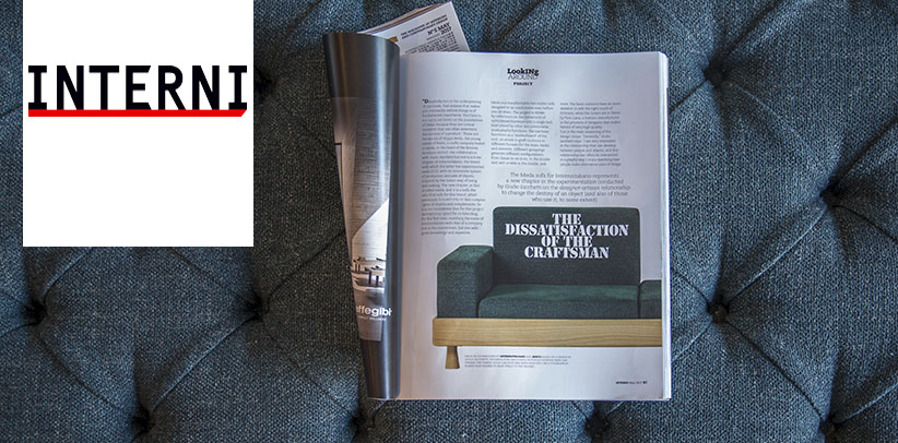 The sofa Meda in the magazine INTERNI