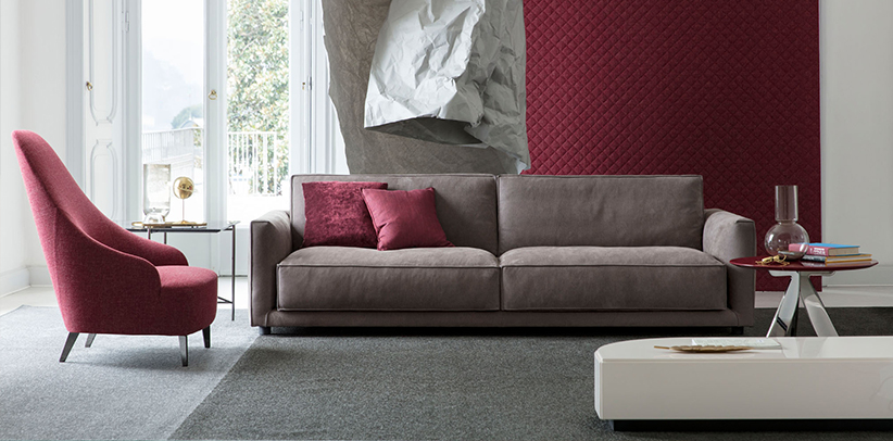 Ribot sofa in water-repellent nubuck leather