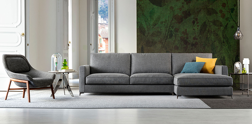 New Jimmy sofa with high steel feet berto salotti Collection