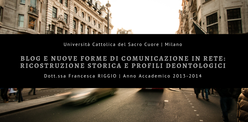 Blog furnishing and communication: the BertO study case in the thesis presented by Ms. Riggio