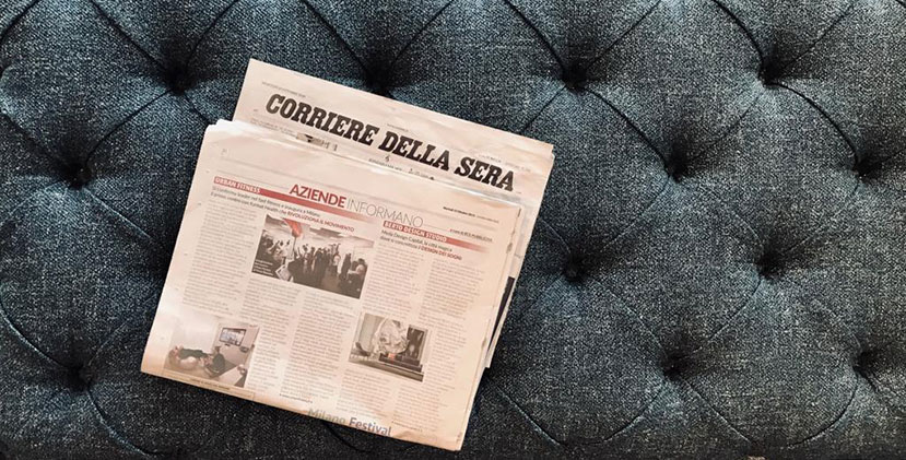 BertO in Corriere della Sera: the Design of your Dreams is  Made in Meda