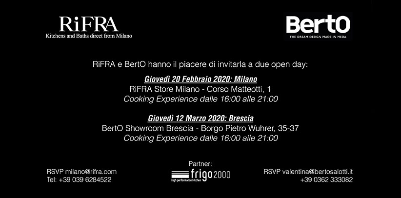 BertO & RiFRA: Open day a Milano