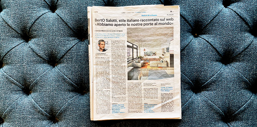 Interview to Filippo Berto Made in Meda newspaper Il Giorno