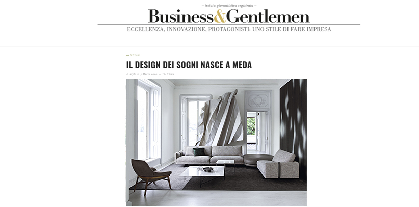 The design Made in Meda by BertO on the Business&Gentlemen web site