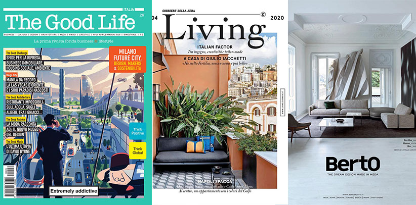 The Dee Dee sofa by BertO in the magazines The Good Life and
