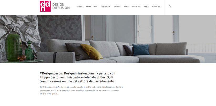 Design and new technology: interview with Filippo Berto on DDN