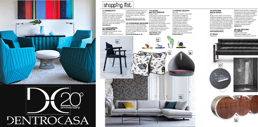 The new Dee Dee sofa by BertO is the protagonist of DentroCasa's shopping list