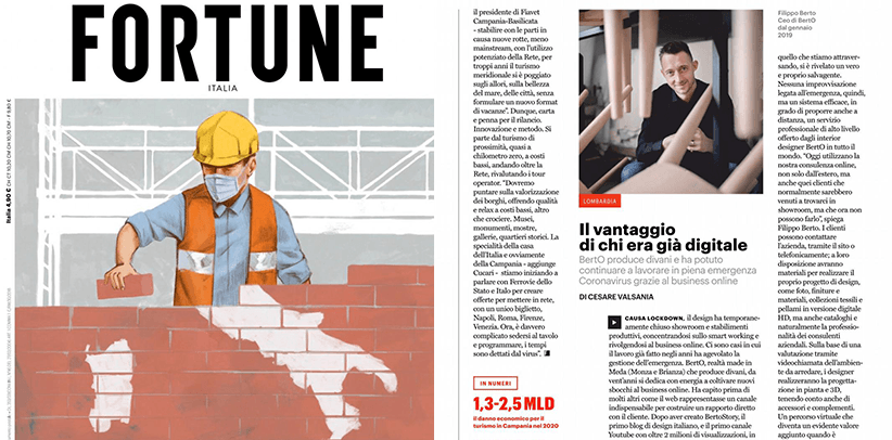 BertO's online business in the magazine Fortune Italia