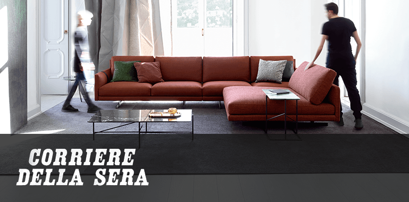 The role of the new BertO sofa in Corriere della Sera - News BertO