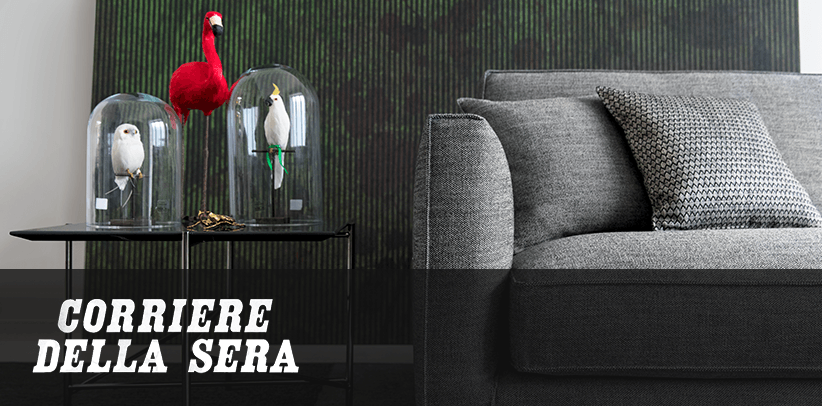 Perfect fabrics for perfect sofas: BertO's design of your dreams in the Italian daily newspaper Corriere della Sera