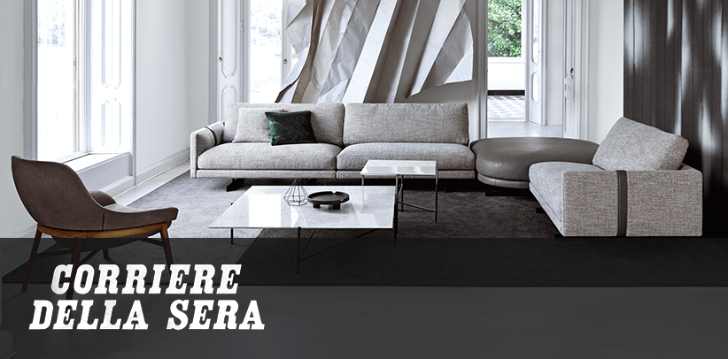 The new Dee Dee sofa by BertO, protagonist of the 2020 Collection in Corriere della Sera