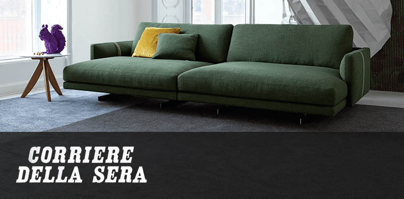The new Dee Dee Home Cinema sofa in Corriere della Sera