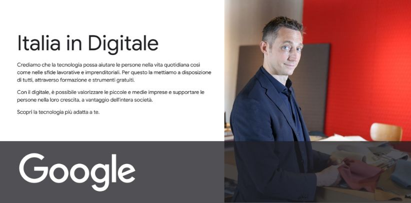 BertO is a testimonial of the new Google project ITALIA IN DIGITALE - News BertO