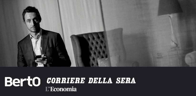interview with Filippo Berto in the financial insert of Corriere Della Sera