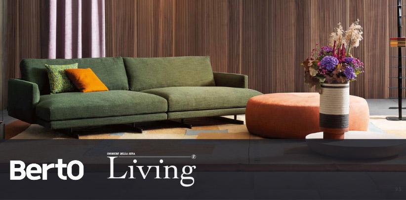 Dee Dee sofa by Berto in living corriere della sera visioni d'autunno
