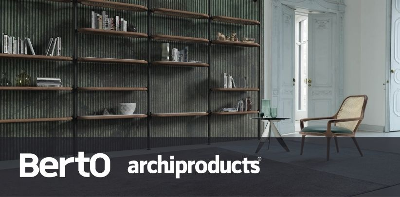 patti armchair and ian bookcase by berto in archiproducts