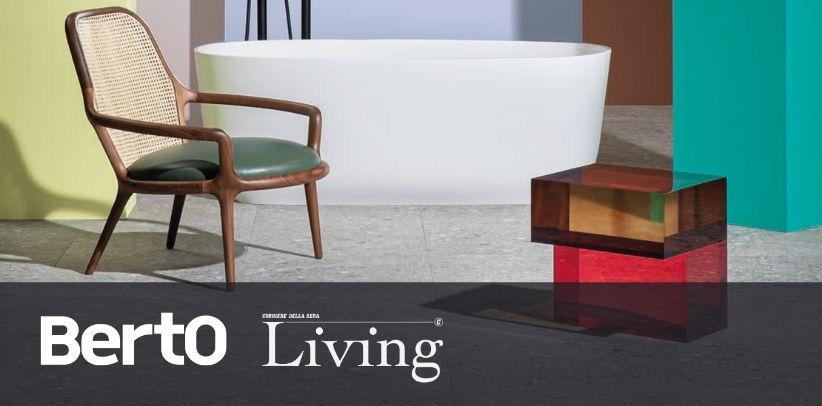 designer armchair patti by berto in living corriere della sera