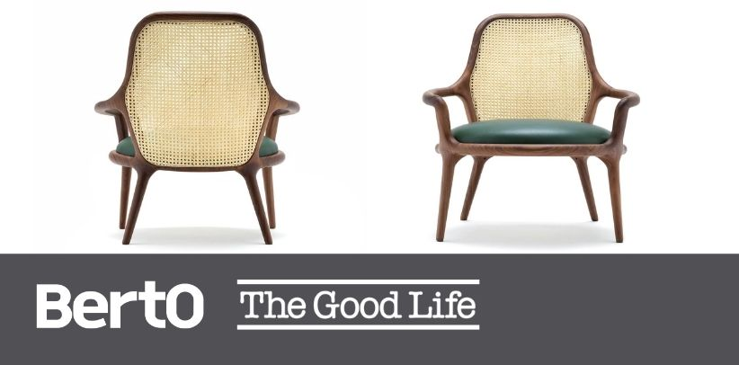small patti armchair with vienna straw by berto in the good life italia