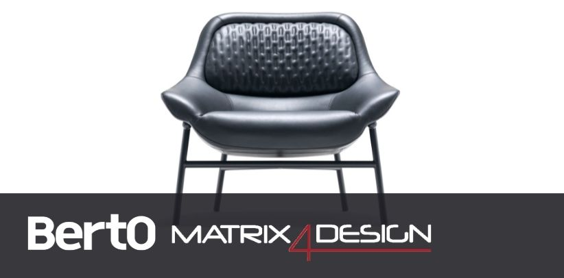 hanna armchair by berto with dyloan protagonist of the article in design4matrix
