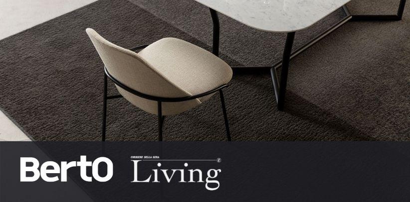 BertO Jackie designer chair in Living Corriere della Sera