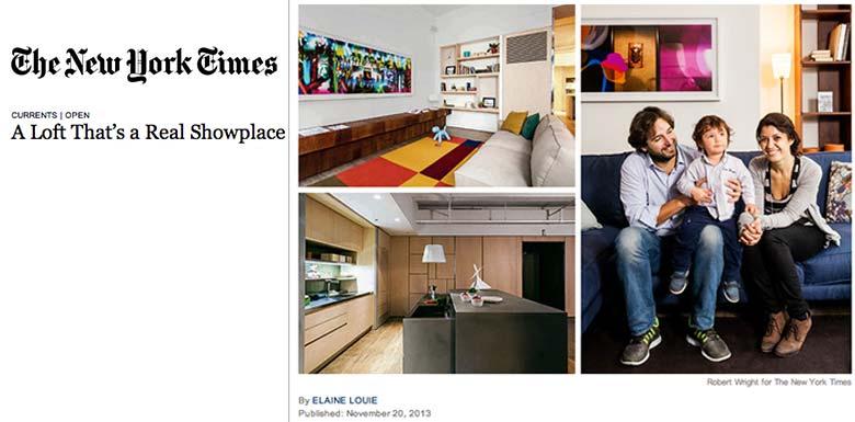 Design Apart - living showroom on the New York Times