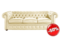Chester leather sofa - 3 seater