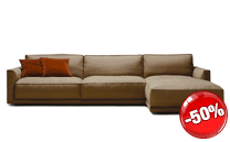 Ribot sofa with chaise longue