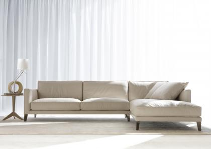TIME BREAK LEATHER SECTIONAL SOFA