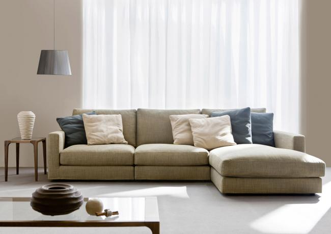 Morris sectional sofa berto salotti - Canape chesterfield beige ...