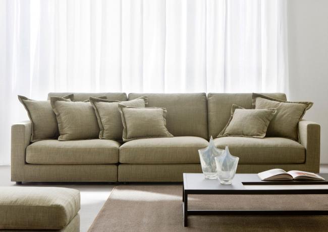 Morris modern sofa berto salotti for Salotti moderni