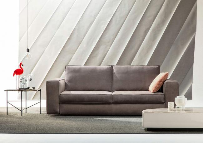 Made Divani Letto.Nemo Sofa Bed Upholstered In Leather Berto Salotti