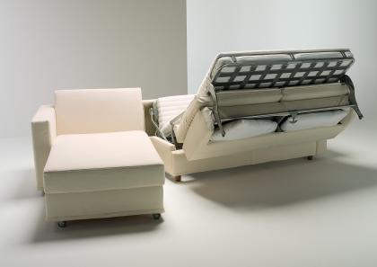 Aurora Corner Sofa Bed with storage - Berto Salotti