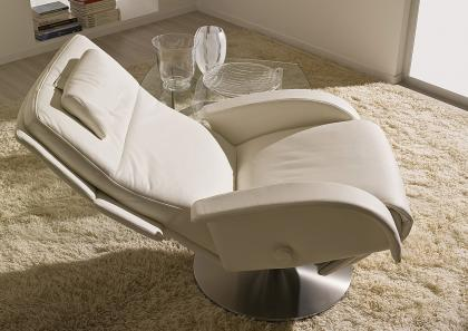 Poltrone Relax Moderne.Tecno 3 Reclining Chair With Swivel Base Berto Salotti