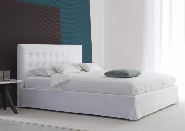 Outlet | Marais White Linen Bed - BertO Shop