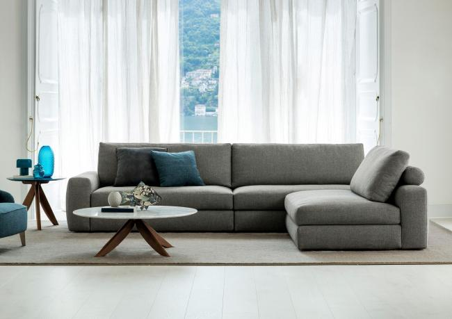 Joey Sofa with Removable Chaise Longue - Berto Salotti