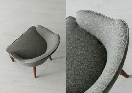Judy Chair with Wooden Legs - Berto Salotti