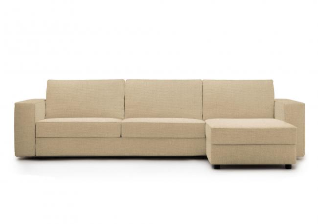 Outlet sofa bed with storage chaise longue berto shop for Sofa bed outlet