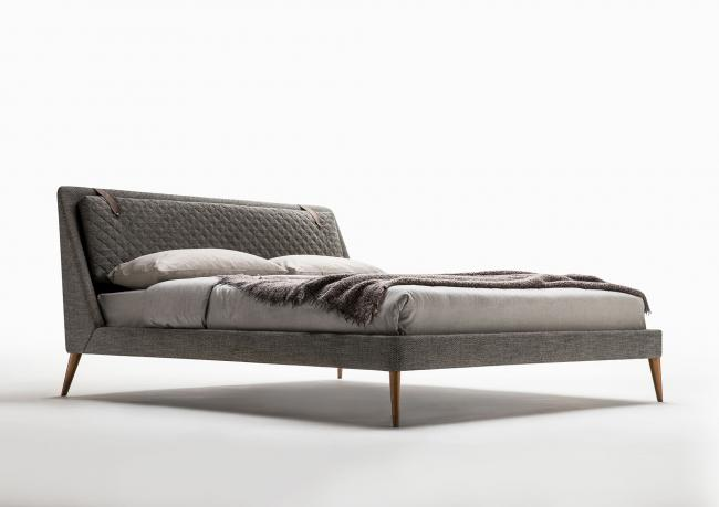 Chelsea Modern Bed with High Feet - Berto Salotti