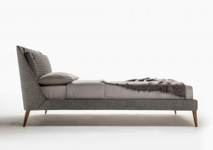 Chelsea Modern Bed with High Feet - Berto Salotti