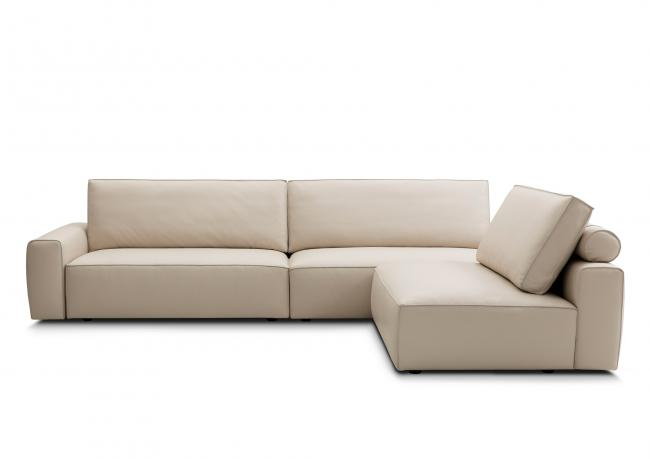 OUTLET | One Piece Frame Leather Sofa - BertO Shop