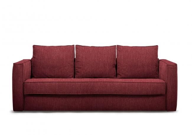 OUTLET   Red-fabric sofa bed Robinson - BertO Shop